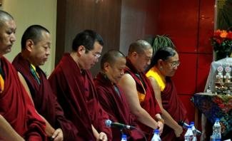 Tibetan Lamas at 11th Conference